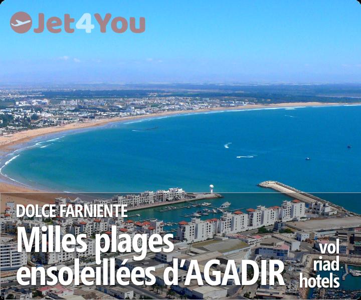 Vol pas cher et sélection d'hotels pour Agadir