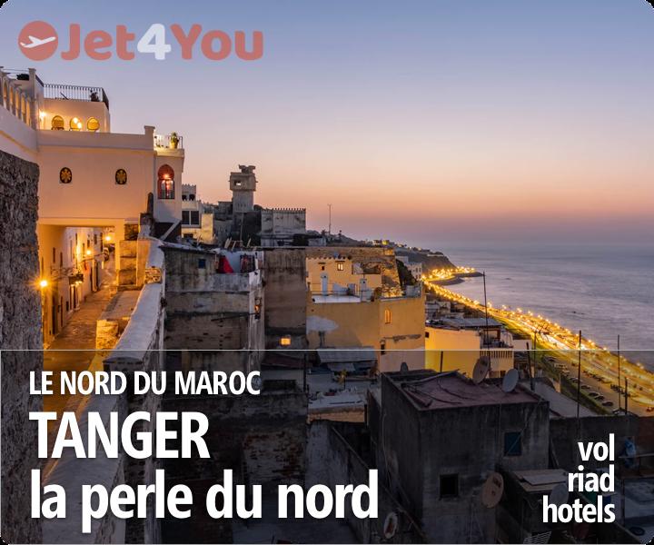Vol pas cher et sélection d'hotels pour Tanger